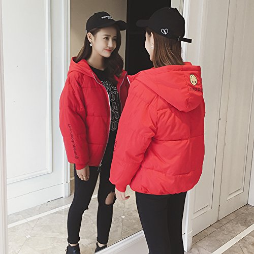 Xuanku Winter Bread To Small Cotton And Cotton Clothing Female Short Paragraph Wild Loose Cotton Clothing Jacket red