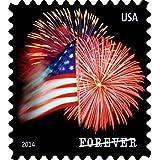 USPS Forever Stamps, Star-Spangled Banner, Roll of 100 (Fireworks)