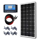 ECO-WORTHY 12 Volt 100 Watt Monocrystalline Solar Panel Kit with 20A LCD Charge