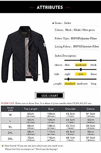 Amazon.com: Men Military Army Jackets chaquetas de hombre Bomber Jacket Men jaqueta masculino Spring Autumn Jacket Coat Male H821: Clothing