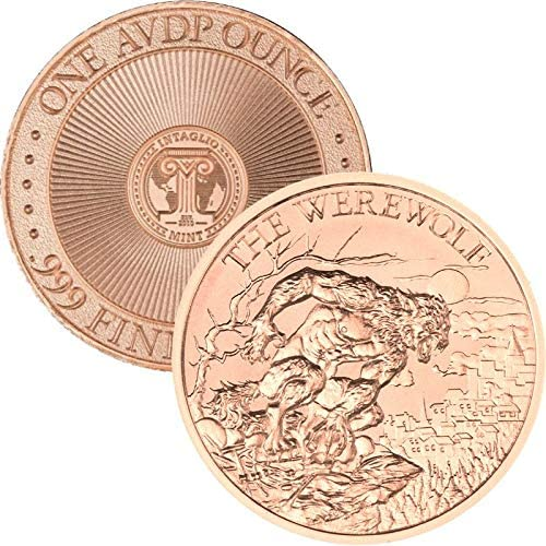 Copper Round Coins THE DINOSAUR Series  9 COIN SET  1 oz