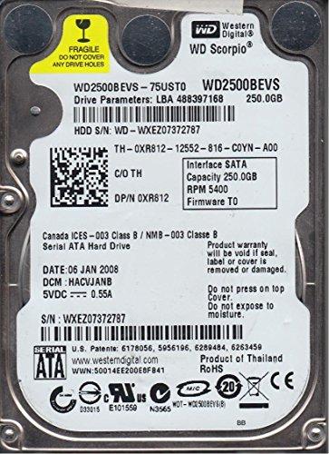 WD2500BEVS-75UST0 Western Digital 250GB 5400RPM SATA 1.5 Gbps 2.5 inch Scorpio Hard Drive (1.5 Gbps Hard Drive)