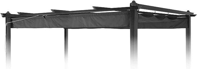 blumfeldt Pantheon Roof Pergola - Techo de Recambio, Toldo de sustitución, 3 x 4 m, Resistente a la Intemperie, Impermeable, para pérgola Pantheon, Poliéster, Gris: Amazon.es: Jardín