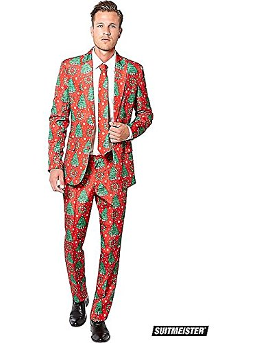 Christmas Suit (Mens Christmas Trees Suitmiester Suit X-Large)