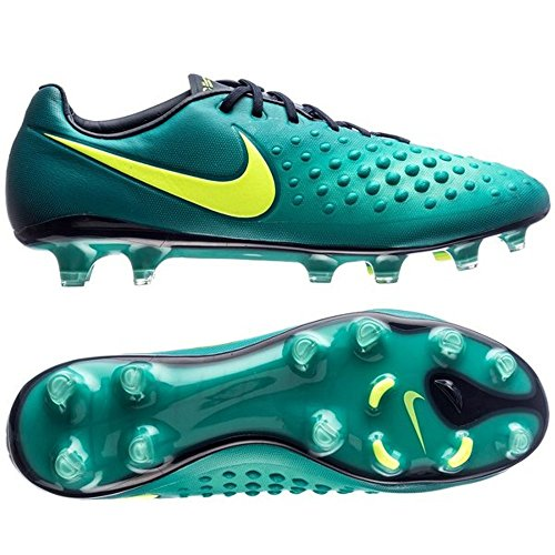 Nike Youth Magista Obra II Firm Ground Cleats ( Rio Teal / Volt Obsidan , 5 Y ) by NIKE