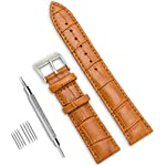 CIVO Genuine Leather Watch Bands Top Calf Grain Leather Watch Strap 16mm 18mm 20mm 22mm 24mm for Men and Women