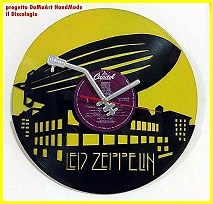 LED ZEPPELIN Reloj de pared de vinilo hecho y perforado con mecanismo