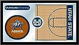 Utah State Aggies Basketball Logo Mirror