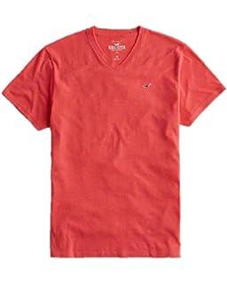 Hollister - Camiseta - para Hombre Rojo Rosso Small