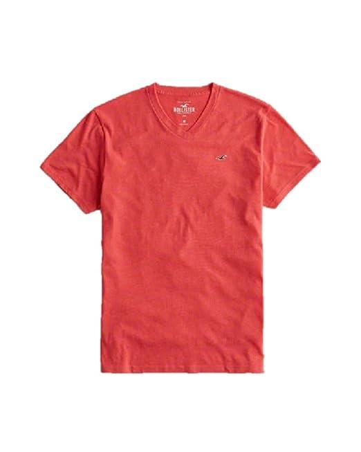 Hollister - Camiseta - para Hombre Rojo Rosso Small: Amazon.es: Ropa y accesorios