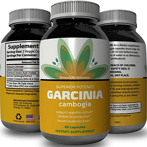 Purest Garcinia Cambogia Extract with 95% HCA - Highest Grad