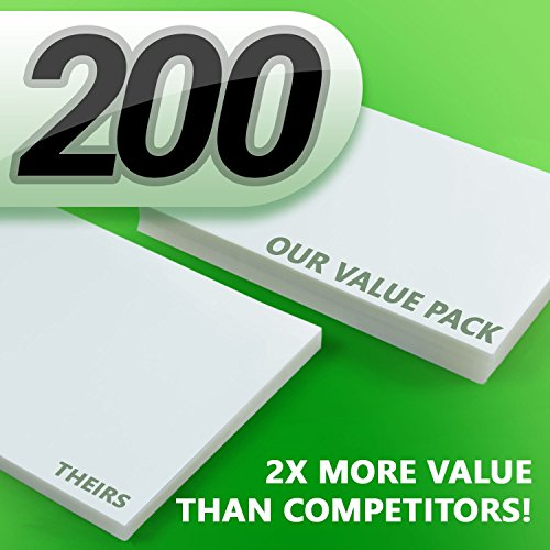 Pack of 200 Sheets Crystal Clear Thermal Laminating Pouches 9 x 11.5