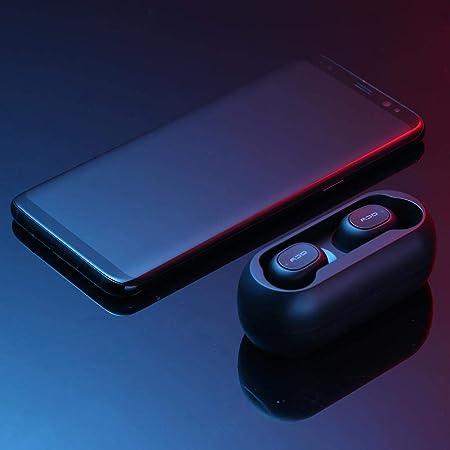RLFS QCY T1C TWS Auriculares inalámbricos con Bluetooth Mini Auriculares estéreo con Caja de Carga: Amazon.es: Electrónica