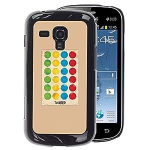 A-type Arte & diseño plástico duro Fundas Cover Cubre Hard Case Cover para Samsung Galaxy S Duos S7562 (Game Polka Dot Twist Kids)