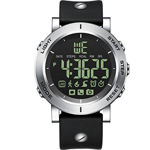 JIANFCR Reloj inteligente, reloj deportivo con altímetro / barómetro / termómetro y GPS incorporado, rastreador de...