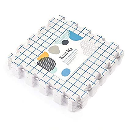 KnitIQ Blocking Mats for Knitting Extension Kit – 3 Extra Blocking Boards to Increase Layout for