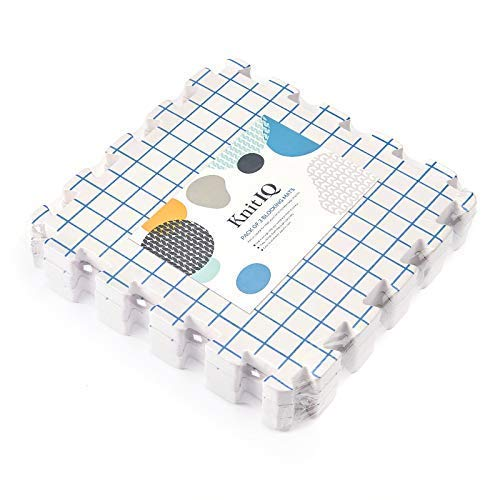KnitIQ Blocking Mats for Knitting Extension Kit - 3 Extra Blocking Boards to Increase Layout for Larger Knitting, Crochet, Needlepoint and Lace Projects ()