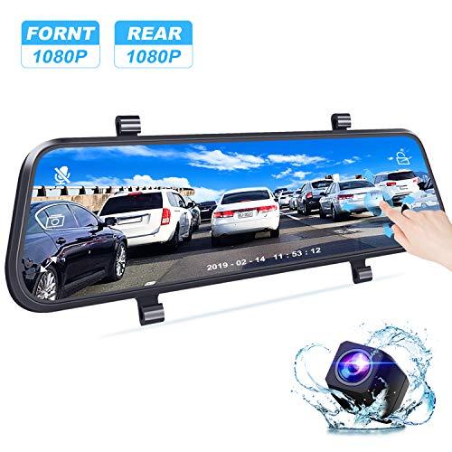 Bir Backup Mirror Dash Cam Front&Rearview Camera 1080P Sony Sensor for Superior Night Vision Newer Cam
