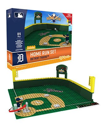 Mlb Home Runs - Oyo Sportstoys MLB Detroit Tigers Home Run Derby Set with Minifigure, Small, White