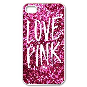 Love Pink Back Case Cover for Iphone 4,4S,diy Love Pink case cover