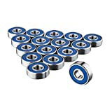 TRIXES Frictionless ABEC 9 Sealed Skateboard Roller Skate Bearings