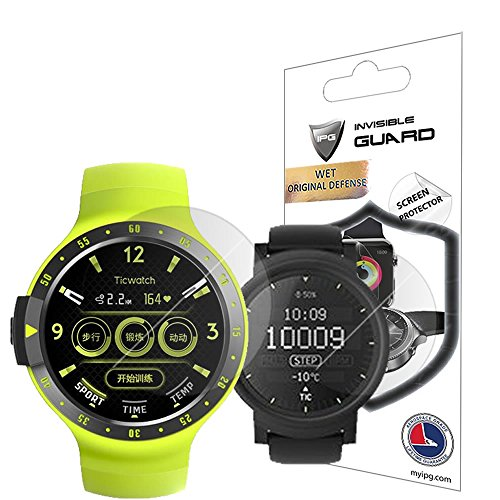 for Ticwatch S & E Smartwatch Screen Protector (2 Units) Invisible Ultra HD Clear Film Anti Scratch Skin Guard - Smooth/Self-Healing/Bubble -Free by IPG