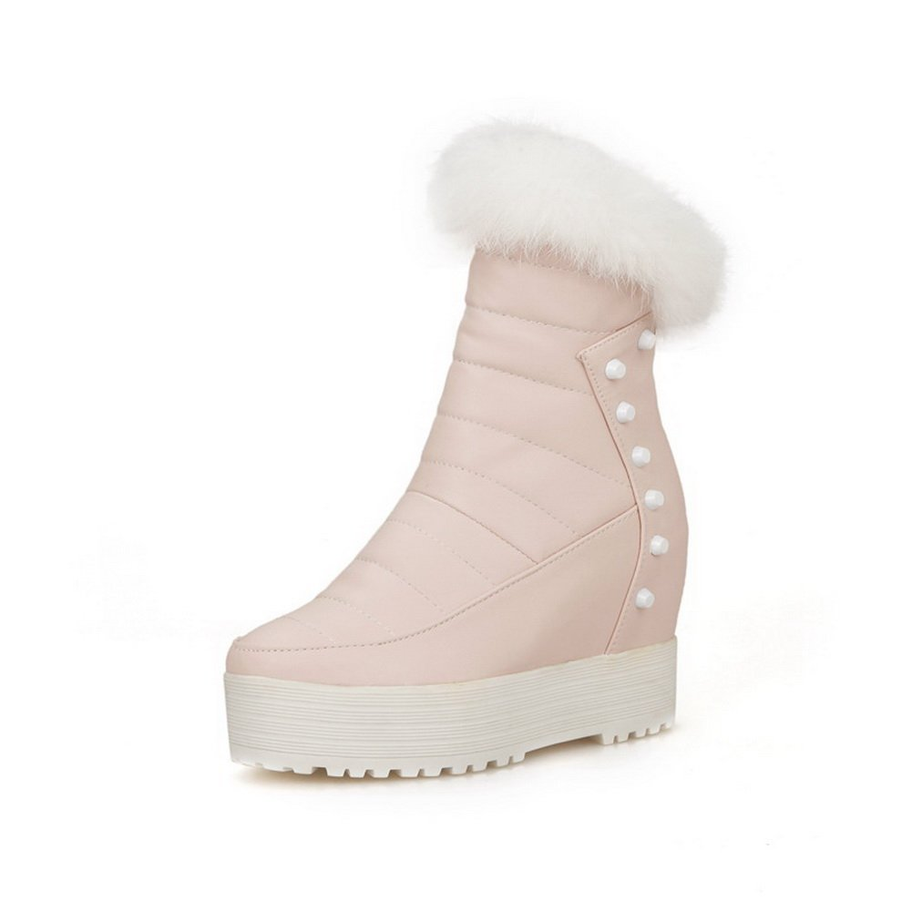 AdeeSu - Botas de nieve mujer35 EU|Rosa