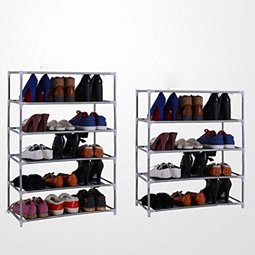 ThanaphatShop Multi Tiers Shoes Shelf Storage DIY Metal Organizer Rack Holder Household Stands