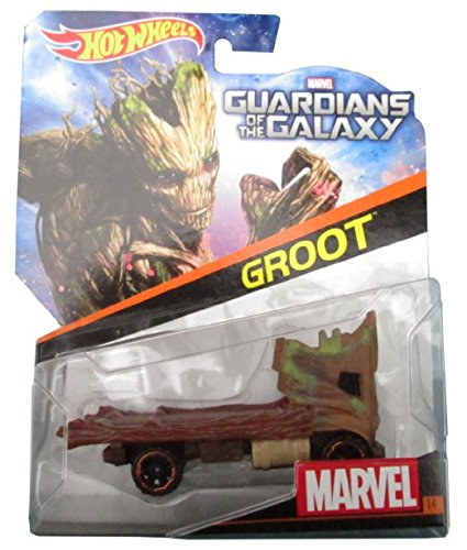 Hot Wheels Marvel Character Car Guardians of the Galaxy Groot Die-Cast Vehicle Mattel