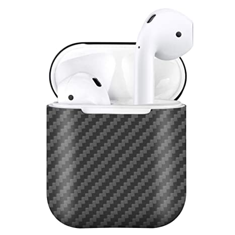 brand new f21bd fdd92 MONOCARBON Real Carbon Fiber Case Compatible AirPods with Charging Case  [Not Wireless Charging Case] Slim Carbon Fibre Cover for Apple Air Pods  Case ...