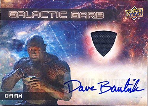 2017 Guardians of the Galaxy Series 2 Trading Card Set Wardrobe Autograph SMA2 Dave Bautista