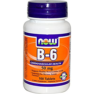 Now Foods Vitamin B-6, 100 tablets