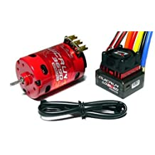 RCECHO® HOBBYWING QUICRUN 3650SD 2500KV 13.5T Sensored Brushless Motor & 60A ESC ME125 with RCECHO® Full Version Apps Edition