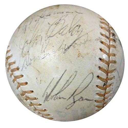Nolan Ball Ryan (Signed Nolan Ryan Ball - 1974 AL 23 Signatures Including #W06921 - PSA/DNA Certified - Autographed Baseballs)