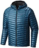 Mountain Hardwear Mens Ghost Whisperer Insulated Down Water Repellent Jacket with Hood - Crevasse - XL