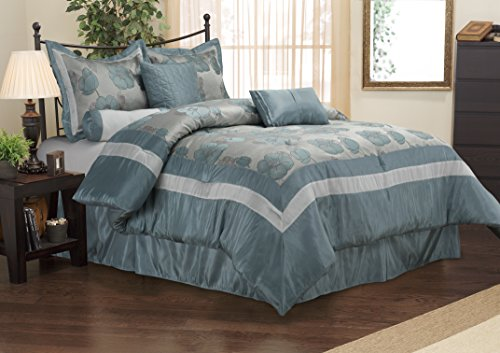 - Impressions 7-Piece Luxurious Comforter Set, King, Aloha