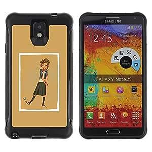 Suave TPU GEL Carcasa Funda Silicona Blando Estuche Caso de protección (para) Samsung Note 3 / CECELL Phone case / / golden brown yellow beige girl golf /