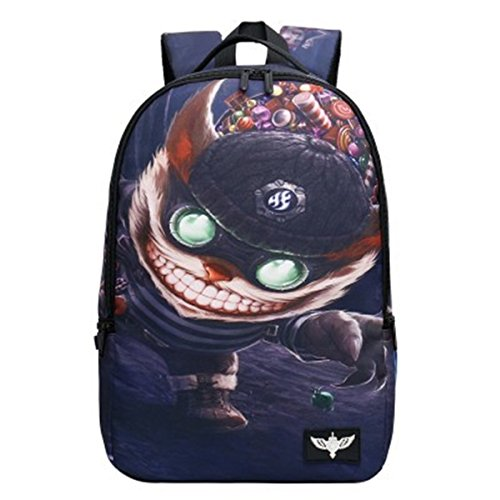 Hot League of Legends Thema Hochleistungs-Rucksack Computer Tasche (dunkelblau)