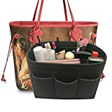 LEXSION Felt Handbag Organizer,Insert purse organizer Fits Speedy Neverfull Black M