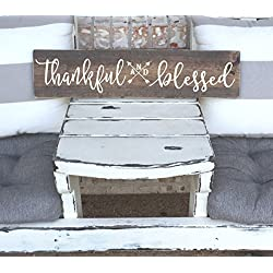 Thankful and Blessed - Wooden Sign - Rustic Sign - Arrow - Wall Decor - Farm House
