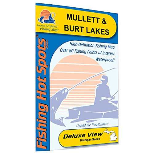 Mullett & Burt Lakes Fishing Map