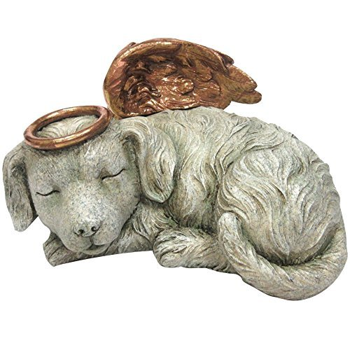 Windhaven Urns Pet Memorial Angel Dog Sleeping Cremation Urn Memorial Statue Bottom Load 30 Cubic Inch by Pacific Giftware
