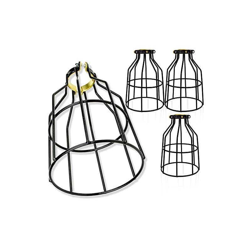 Newhouse Lighting WLG1B-4 Cage for Pendant, Lamp Holder, Ceiling Fan Light Bulb Covers Vintage Open Style Industrial…