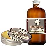 Caveman Deep Forest Combo Beard Oil and Beard/Mustache Balm, Leave in Conditioner, 1oz oil and balm Cedarwood, Fir, Eucalyptus