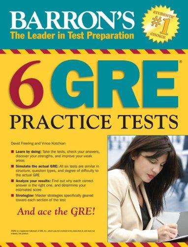 Amazon barrons 6 gre practice tests ebook vince kotchian barrons 6 gre practice tests by kotchian vince fandeluxe Gallery