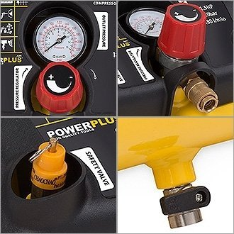 yellow 230.00V Varo oil-less compressor with 8 or 10 bar maximum pressure X1721 1100.00W