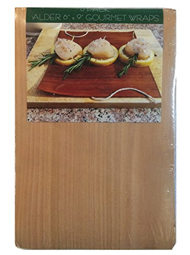 Alder Grilling Wraps, Set of 6, 6 x 9 in. Made in The USA.