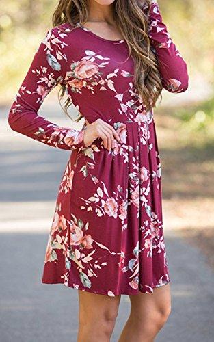 Ecowish - Vestido - para mujer Rosso