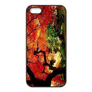 Charming Orange Red Tree Custom Protective Hard Phone Cae For Iphone 5s
