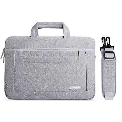 MOSISO Laptop Shoulder Bag Compatible 13-13.3 Inch MacBook Pro, MacBook Air, Notebook with Organizer Pockets, Multiuse Travel Work Business Messenger Briefcase Carrying Case for Men & Women, (Organizer Notebook Case Top Loading)